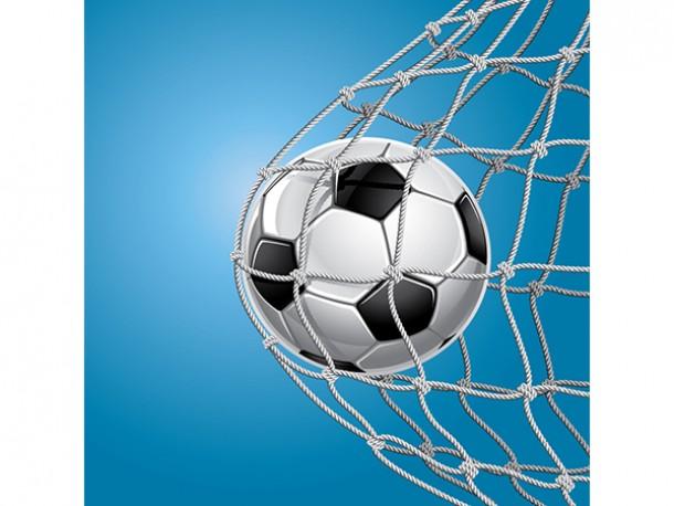 Affiche en vinyle autocollant - But au soccer
