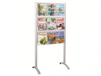 Présentoir de sol Luxe pour magazines