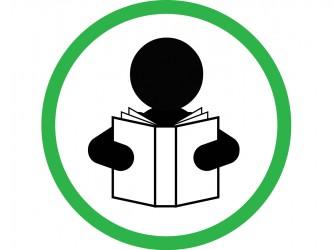 Pictogramme en vinyle autocollant - Encouragez la lecture