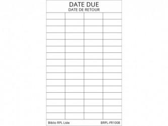 Self-Adhesive Bilingual Date Due Slips