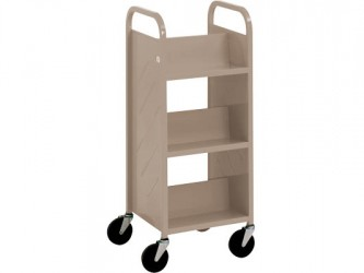 Demco Library Quiet Mini-Booktruck with 6 sloped shelves