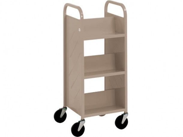 "Mini Chariot ""Library Quiet"" à 6 tablettes inclinées de Demco"