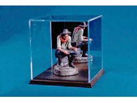 Boîte de présentation en acrylique avec base et fond réfléchissant