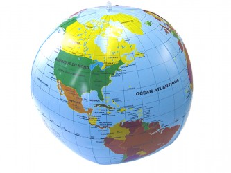 Ballon jeu Globe terrestre