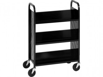 Demco Library Quiet Booktruck with 6 sloped shelves