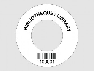 Customized Disc Hub Labels