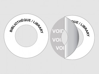 Customized Disc Hub VOID Security Labels