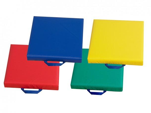 Coussins carrés avec poignées - Ensemble de 4