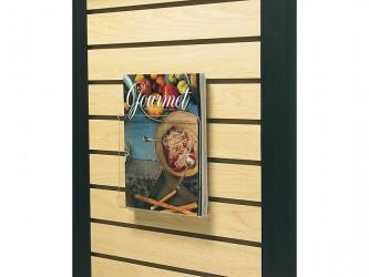 Présentoir en acrylique flexible de magazines pour panneaux rainurés