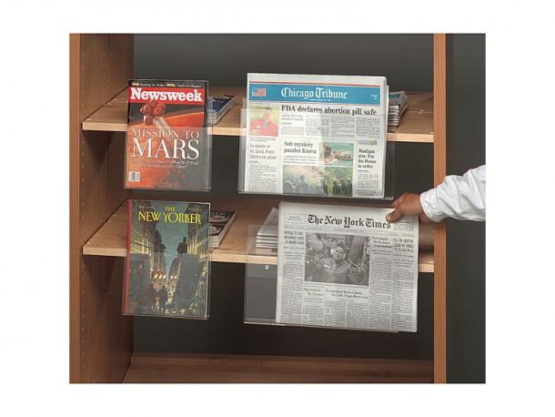 Adaptateur en acrylique d'étagères pour magazines et journaux