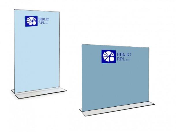 Support en acrylique robuste pour affiches de format tabloïde - Insertion par le bas