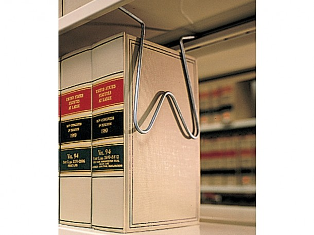 Appui-livres suspendu en fil métallique