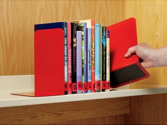 Appui-livres en métal avec base magnétique