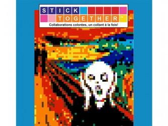 Mosaïque interactive à autocollants StickTogether - Le cri - Edvard Munch