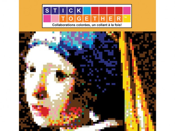Mosaïque interactive à autocollants StickTogether - La jeune fille à la perle - Johannes Vermeer