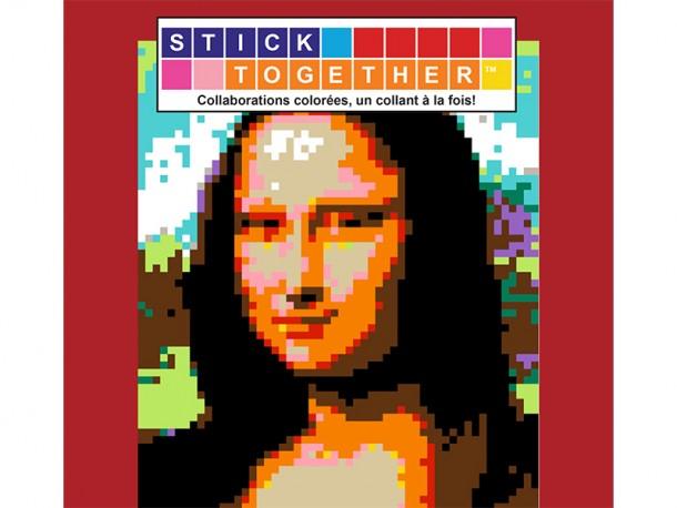 Mosaïque interactive à autocollants StickTogether - La joconde - Leonardo da Vinci
