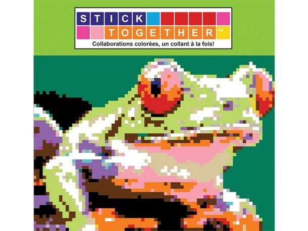 Mosaïque interactive à autocollants StickTogether - Grenouille