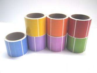 """Protège-étiquettes de couleur - 2"""" x 3"""""""