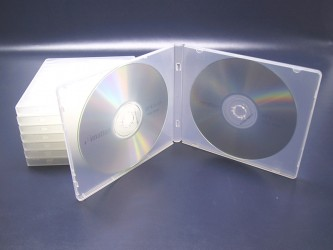 Boîtier CD double en polypropylène