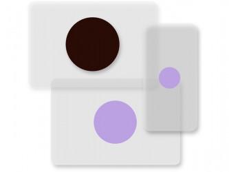 Points de couleur avec protège-étiquettes
