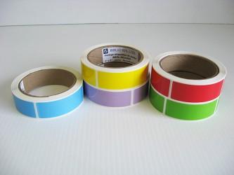 """Protège-étiquettes de couleur - 1"""" x 3"""""""