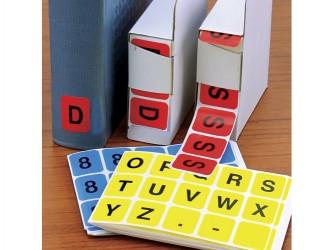 Étiquettes alphabétiques et numériques