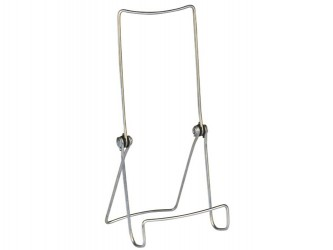 Adjustable Zinc Plated Display Easel - Sharp Front Bend