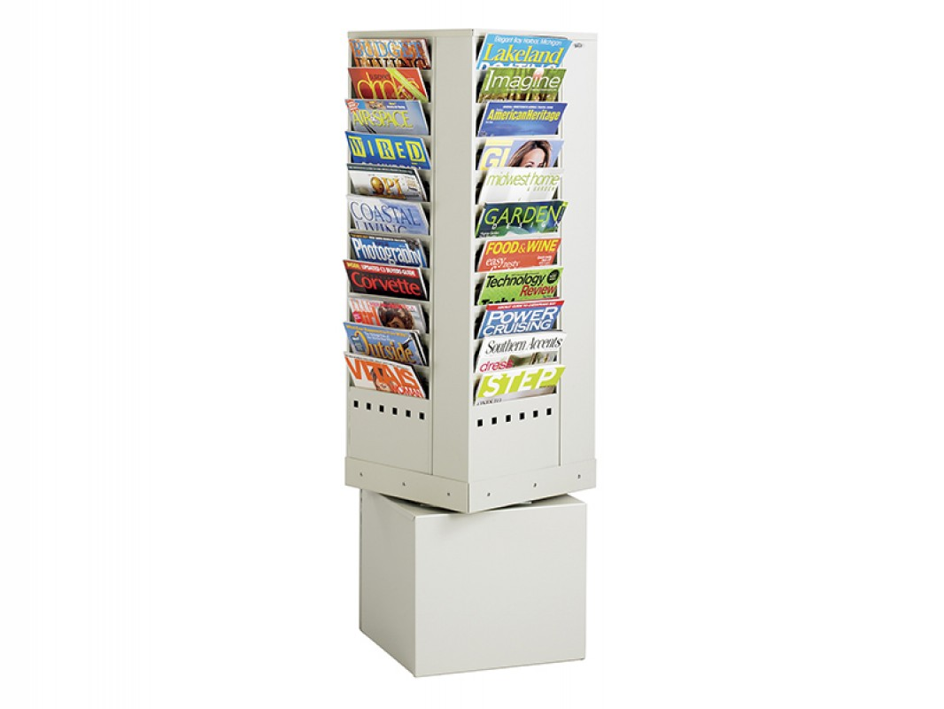 rack display htm from rotary brochure safco magazine rotating office wired large zone