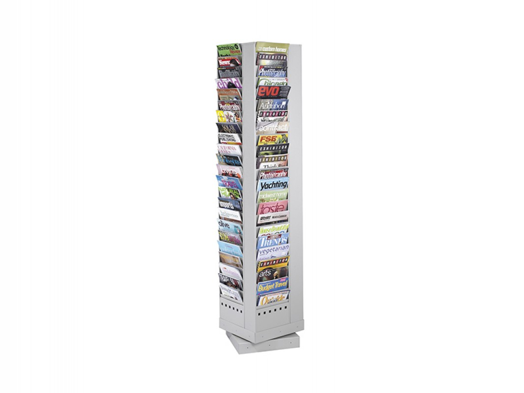 rotating display s rack side magazine single sm sided htm office abc paperflow