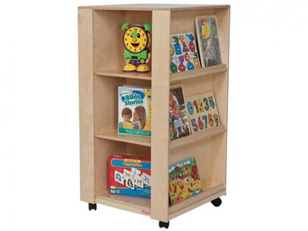 Présentoir et bibliothèque mobile de Wood Designs