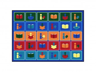 "Tapis de lecture pour enfants ""Library Blocks"" de Joy Carpets"
