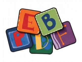 """Ensemble de tapis pour enfants """"Alphabet Blocks"""" de Carpets for Kids"""