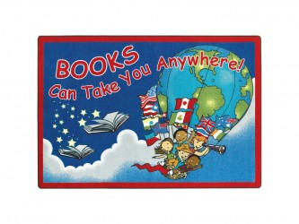 "Tapis de lecture pour enfants ""Books Can Take You Anywhere"" de Joy Carpets"