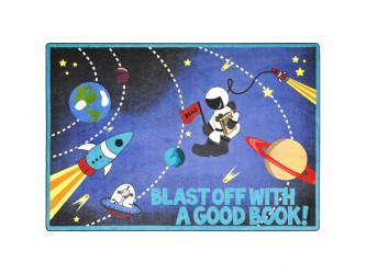 "Tapis de lecture pour enfants ""Blast Off With a Good Book"" de Joy Carpets"