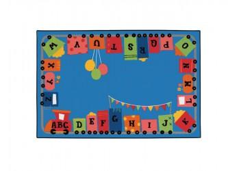 Carpets for Kids KIDS Value Rugs Alpha Fun Train Carpet