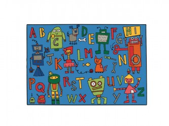 "Tapis pour enfants ""KIDS Value Rugs - Reading Robots"" de Carpets for Kids"