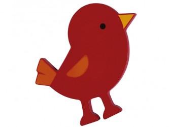 Décoration murale interactive HABA de Gressco - Oiseau rouge