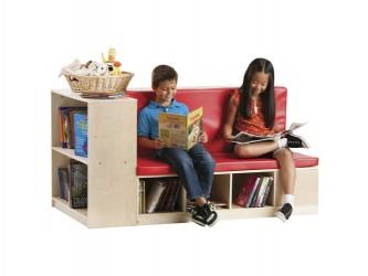 Coin de lecture avec espace de rangement