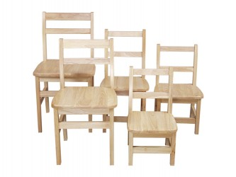 Wood Designs Children's Hardwoord Chairs