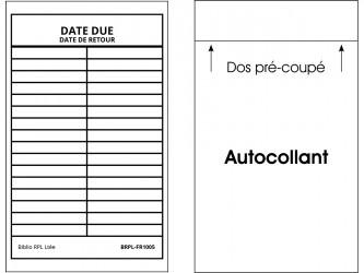 Self-Adhesive Bilingual Date Due Slips