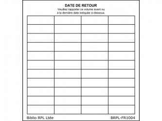 Self-Adhesive Date de retour (Date Due) Slips