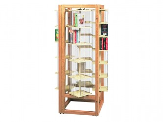 Gressco Rotor Book and Media Display - Square Unit