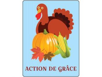 Étiquettes de classification - Action de grâce/Thanksgiving