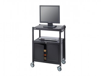 Safco Multimedia Cart With Cabinet