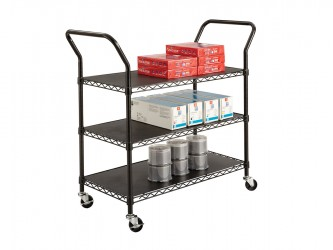 Safco Wire Utility Cart - 3 Shelves