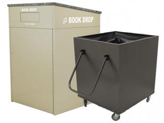 American Book Returns M910 Interior Book Return with cart