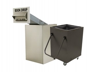 American Book Returns M810-TW Through Wall Book Drop with cart