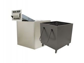 American Book Returns M1010-TW Through Wall Book Drop with cart