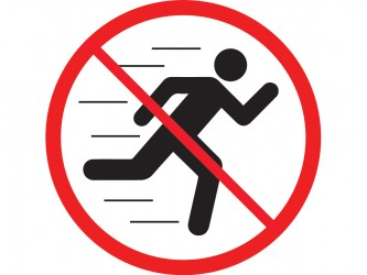 Self-Adhesive Vinyl Sign - No Running