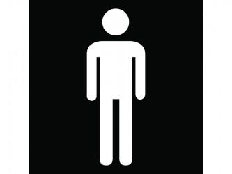 Self-Adhesive Vinyl Sign - Men Restroom